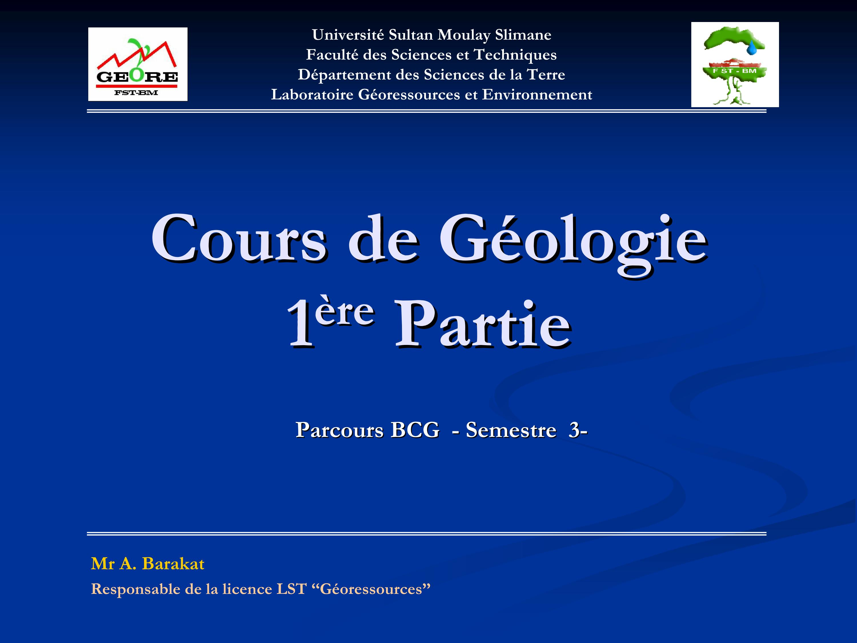 cours BCGII