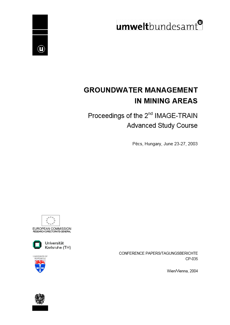 Groundwater Management in mining areas 2003