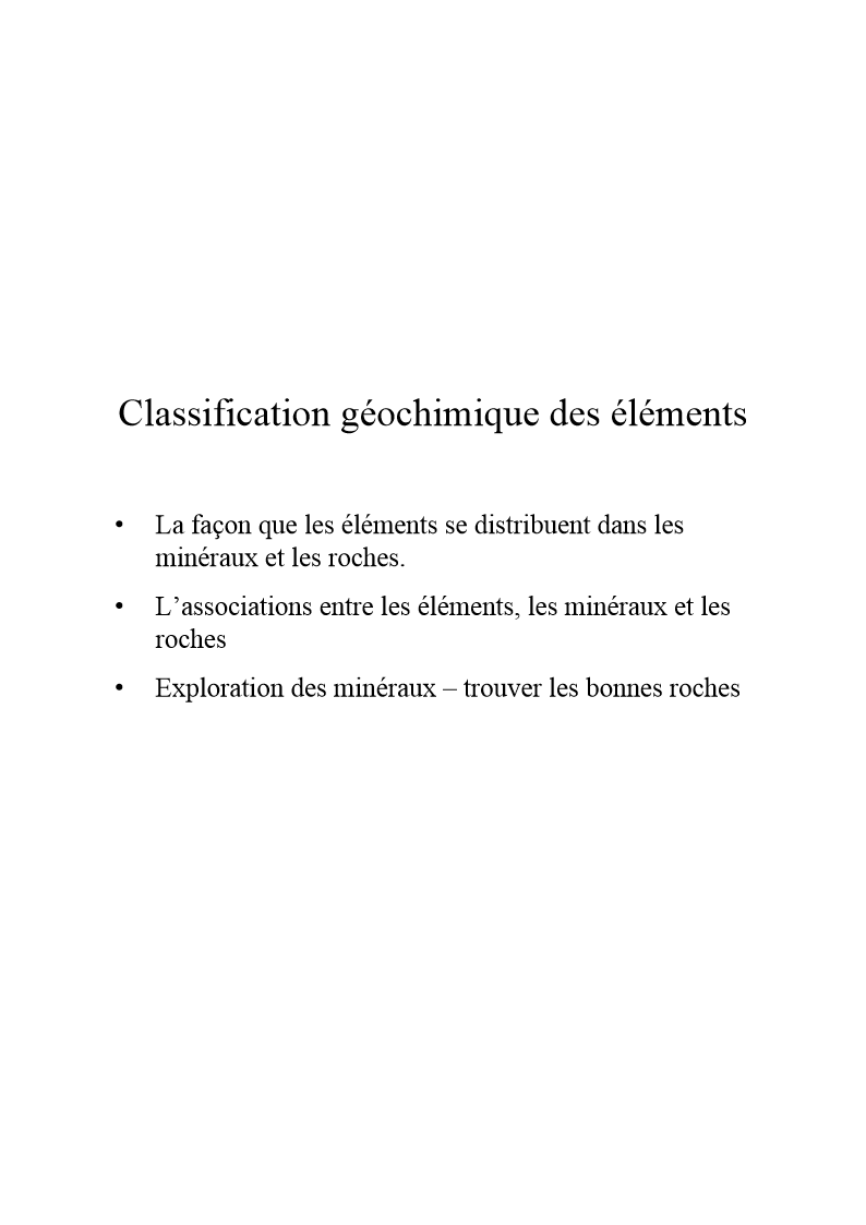 Classificationgeochimique