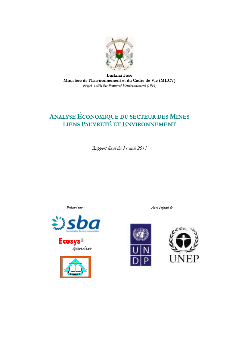Burkina Faso   Evaluation Economique   Natural resources