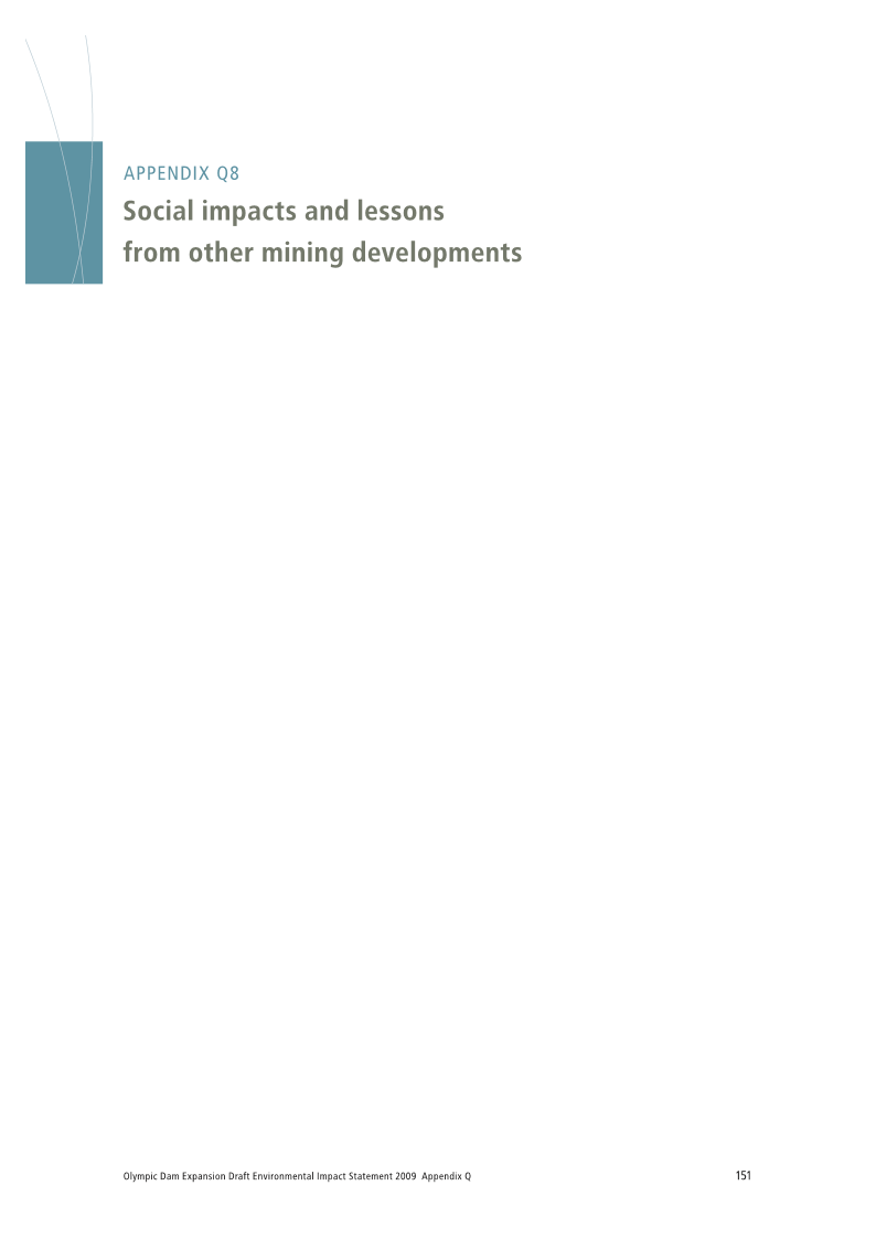 Social impacts and lessons from other mining developments 2003